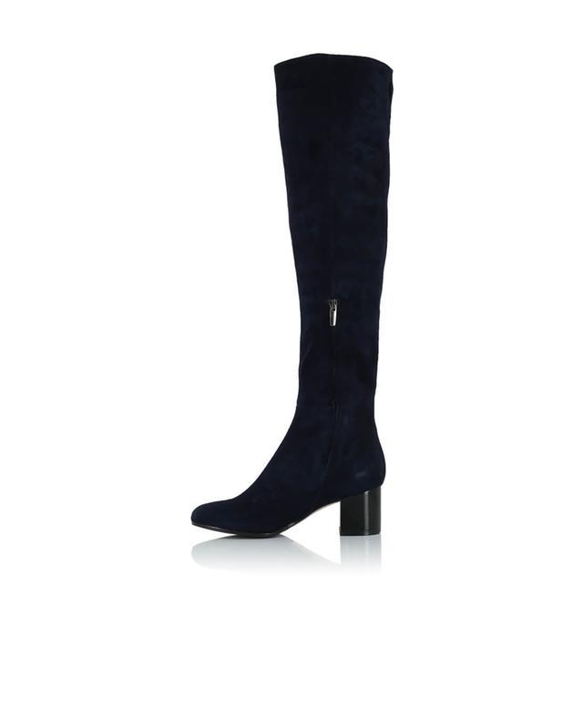bongenie grieder overknee stiefel aus wildleder marineblau bongenie grieder. Black Bedroom Furniture Sets. Home Design Ideas