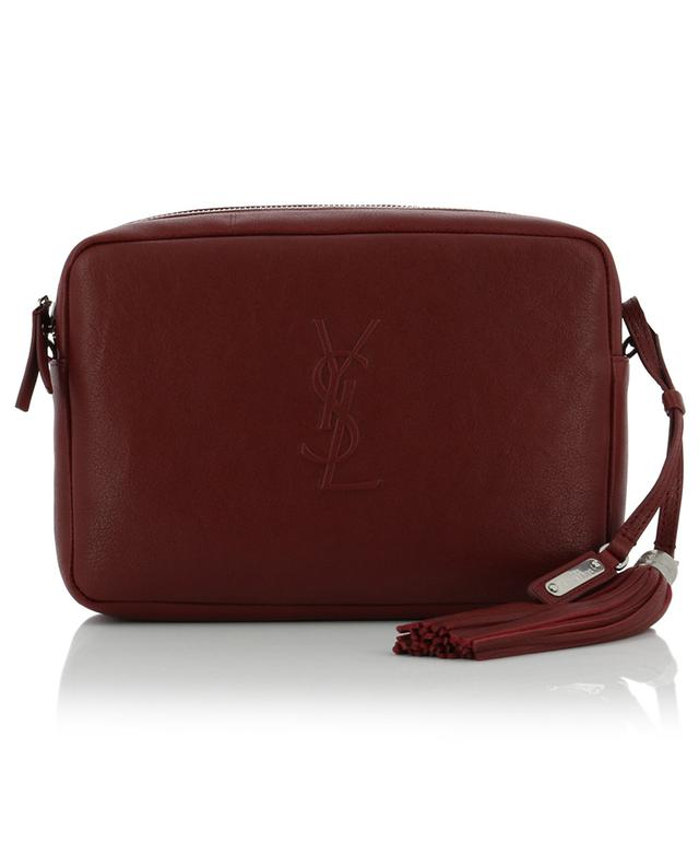 Saint laurent paris poncho lux leather crossbody bag burgundy
