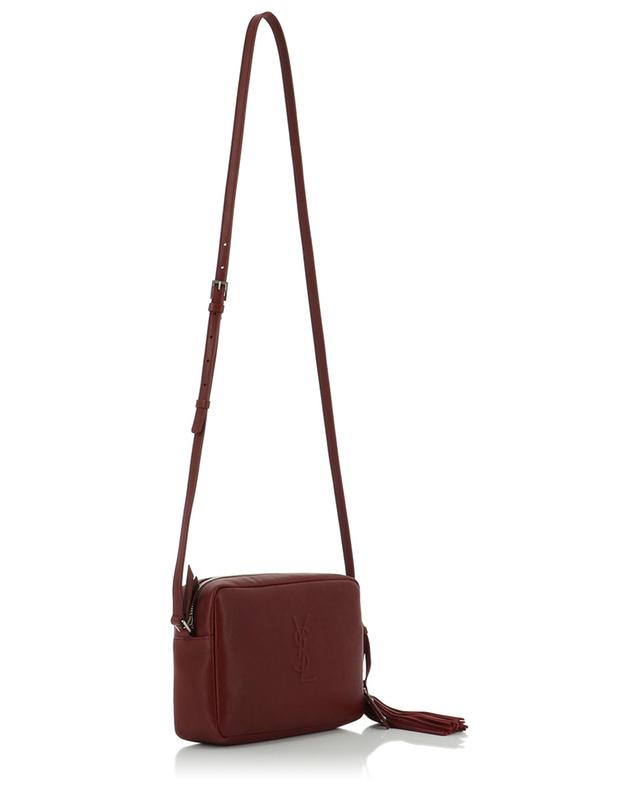 Saint laurent paris sac à bandoulière en cuir poncho lux bordeaux