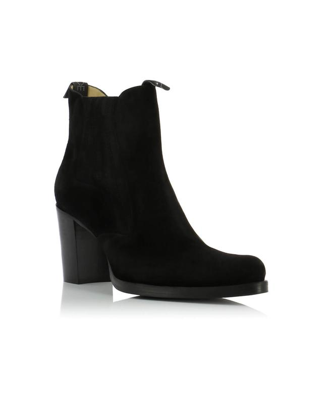 4360153a34c4b FREE LANCE Paddy 7 suede ankle boots BLACK A43908 ...