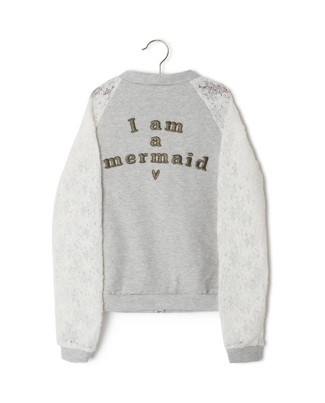 Sweatshirt zippé en coton mélangé Mermaid IKKS JUNIOR