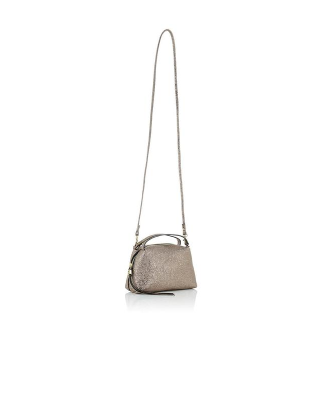 Gianni chiarini metallic leather crossbody bag golden a44572
