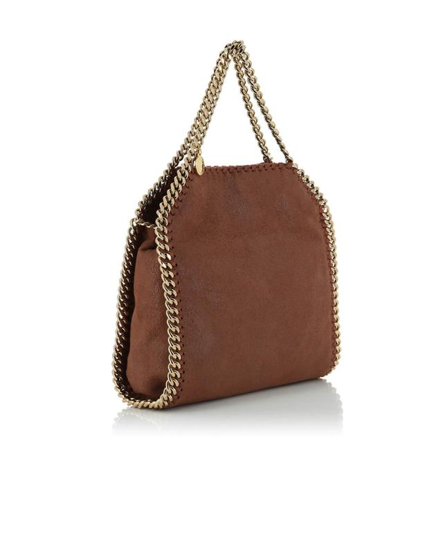 Stella mccartney falabella small faux-leather shoulder bag brown