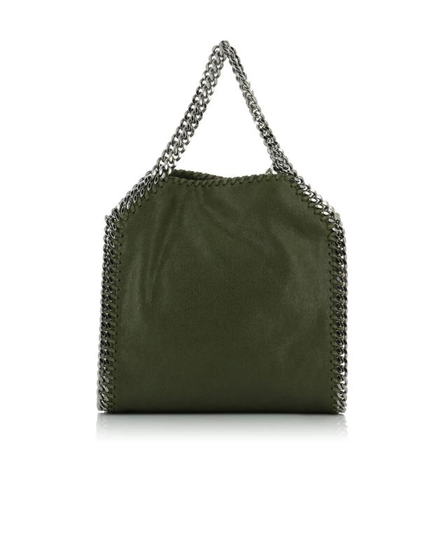 Stella mccartney falabella small faux-leather shoulder bag green