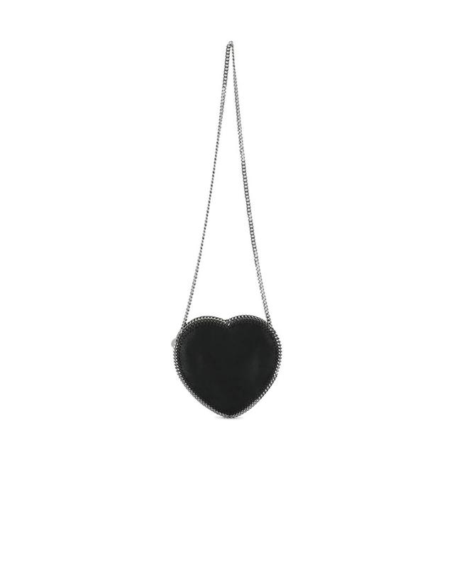 Stella mccartney heart shaped leather shoulder bag black