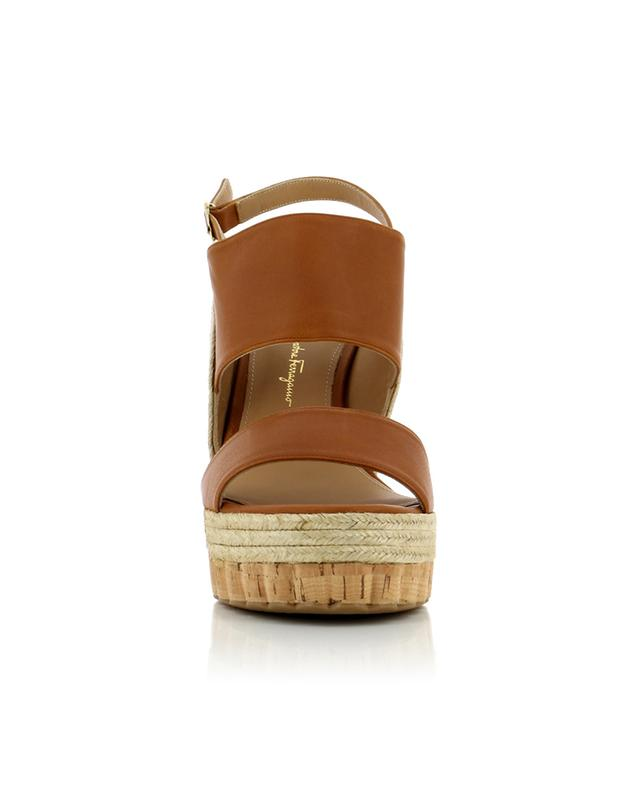 Leather wedge sandals SALVATORE FERRAGAMO