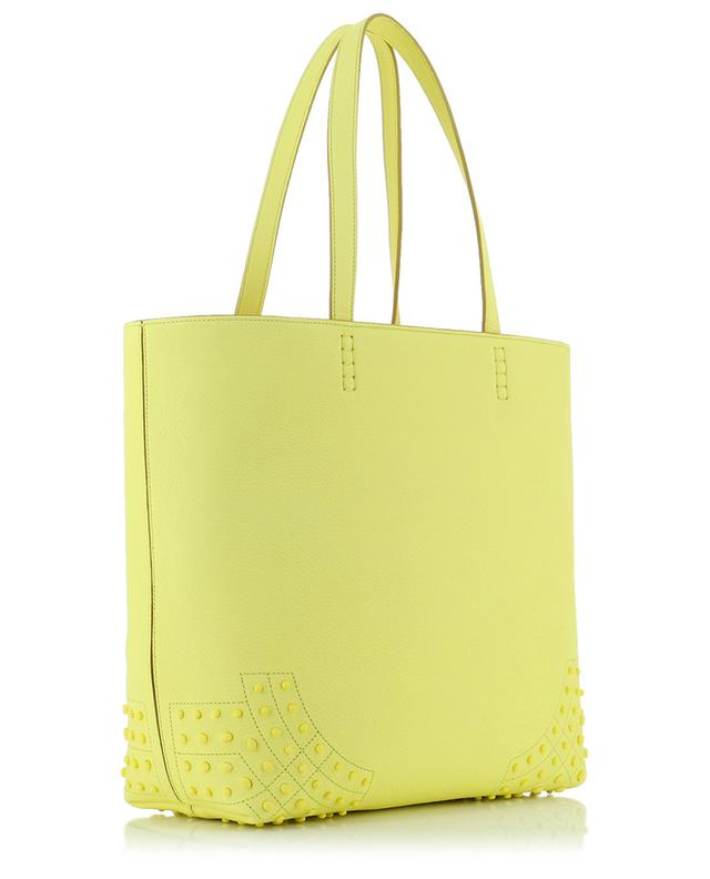 Wave grained leather tote bag TOD'S