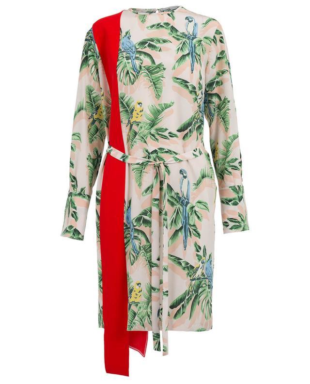 STELLA MCCARTNEY Robe imprimée en soie et viscose mélangée ... dae339d822f