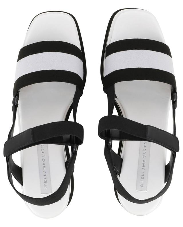stella mccartney plateau sandalen striped bong nie grieder. Black Bedroom Furniture Sets. Home Design Ideas