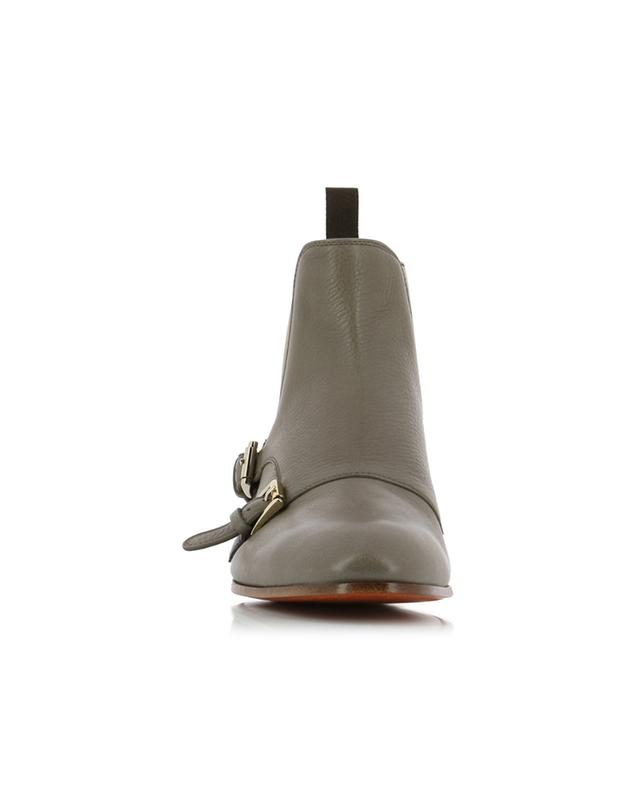 Grained leather ankle boots SANTONI