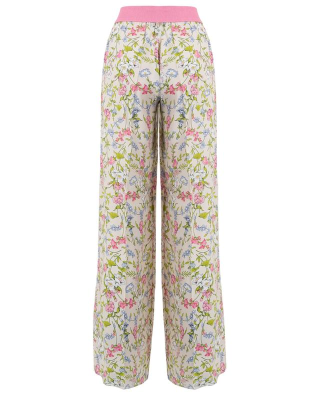 Printed wide-leg viscose trousers TWINSET