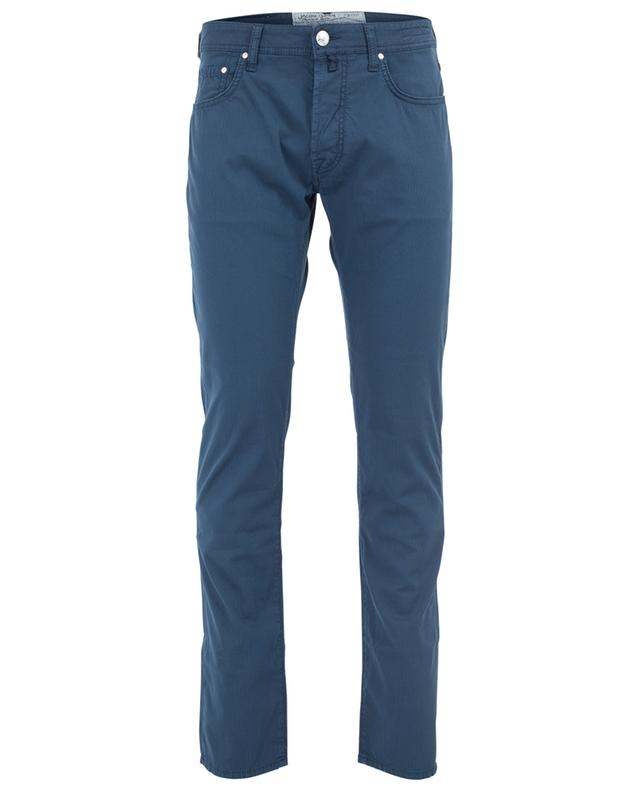 Straight ribbed cotton blend trousers JACOB COHEN
