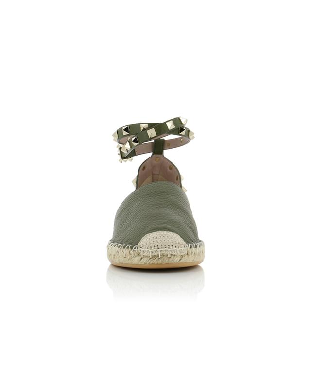 Grained leather espadrilles VALENTINO