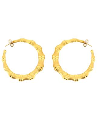 Bamboo gold plated hoop earrings GAS BIJOUX
