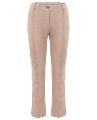 Faux suede stretch trousers MARC CAIN