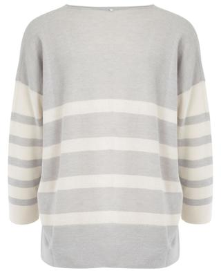 Striped cashmere and cotton blend jumper LORENA ANTONIAZZI