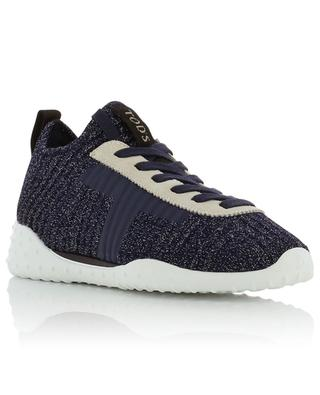 Monogrammed lurex knit sneakers TOD'S