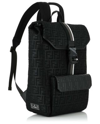 FF mesh and leather backpack FENDI