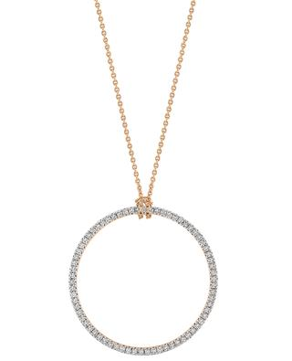 Baby Diamond Circle On Chain gold and diamond necklace GINETTE NY