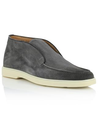 Loafer style low-top suede ankle boots SANTONI