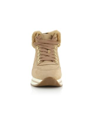 H222 high-top sneakers with faux fur detail HOGAN
