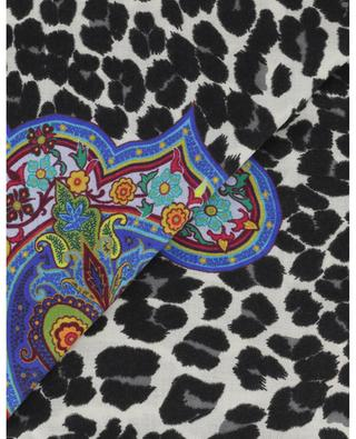Bombay square shawl with leopard specks and paisley ETRO
