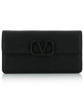 VLOGO textured leather chain wallet VALENTINO