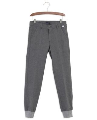 Flannel trousers with rib knit trims IL GUFO