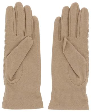 Knit and leather gloves AGNELLE