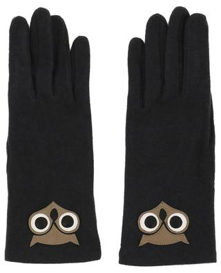 Chouette cashmere and lambskin gloves AGNELLE
