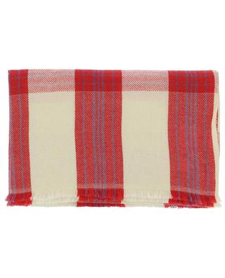 Check wool and cashmere scarf WARM ME