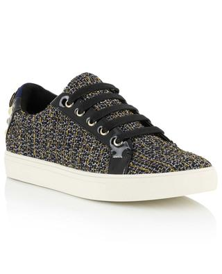 Flache Sneakers aus Tweed mit Lurex Ludo KURT GEIGER LONDON
