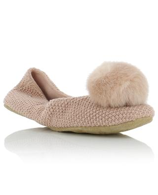 Chaussons en maille avec pompon synthétique Andi UGG