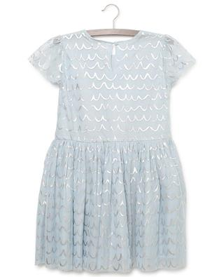 Foil Shell tulle dress with silver patterns STELLA MCCARTNEY KIDS