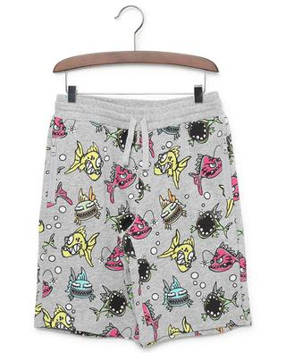 Angry Fish printed sustainable cotton jersey shorts STELLA MCCARTNEY KIDS