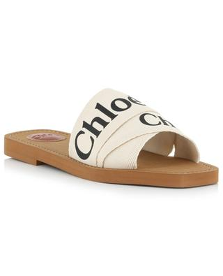 Woody flat sandals with logo CHLOE