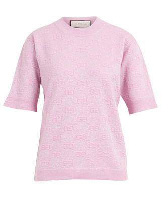 GG Relief sparkling short-sleeved jumper GUCCI