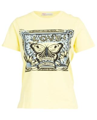 Butterfly print cotton T-shirt RED VALENTINO