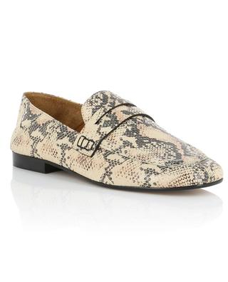 Fezzy convertible snake skin effect loafers ISABEL MARANT
