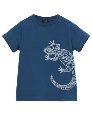 Lizard print cotton T-shirt IL GUFO