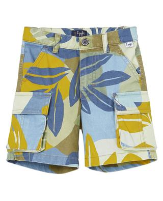 Printed cotton cargo spirit Bermuda shorts IL GUFO