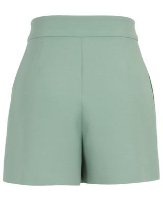 V logo adorned mini virgin wool and silk shorts VALENTINO