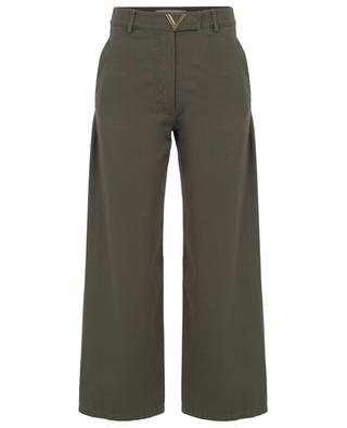 VGOLD gabardine high-rise wide-leg trousers VALENTINO