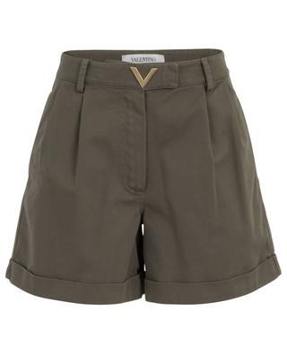 VGOLD gabardine shorts with turn-ups VALENTINO