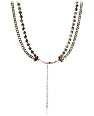 Collier double orné de cristaux multicolores Naomie SATELLITE