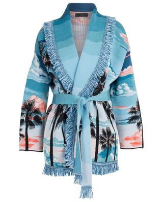 Sunset Landscape wool and silk jacquard cardigan ALANUI