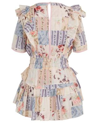 Natasha ruffled and floral print cotton mini dress LOVESHACKFANCY