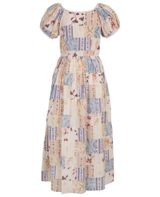 Lais long floral print cotton dress LOVESHACKFANCY