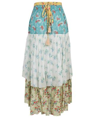 Weber floral print cotton midi skirt LOVESHACKFANCY