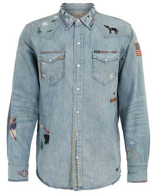 Embroidered denim shirt POLO RALPH LAUREN